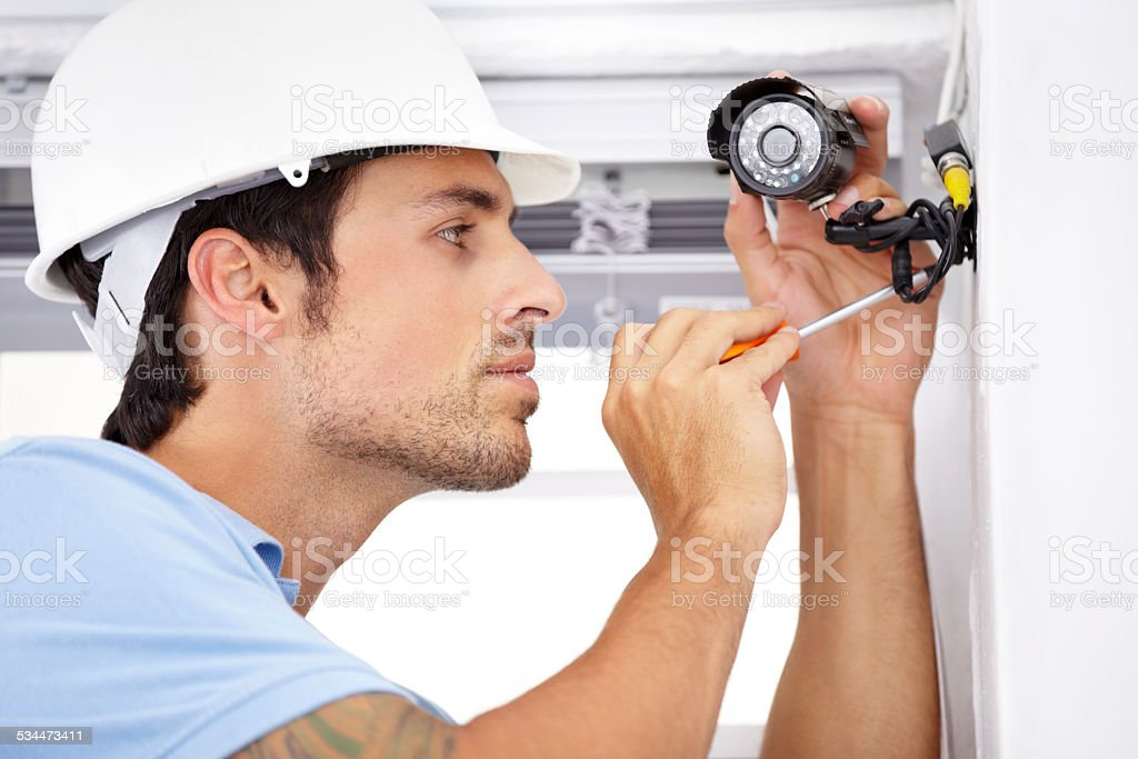 Your home security is in capable hands stock photo