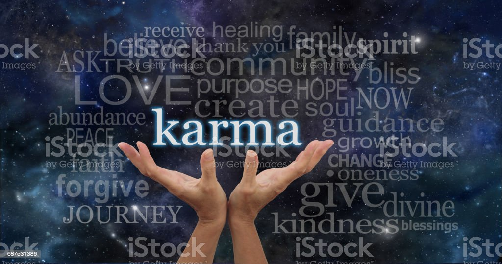 Your Karma is in Your Hands stock photo