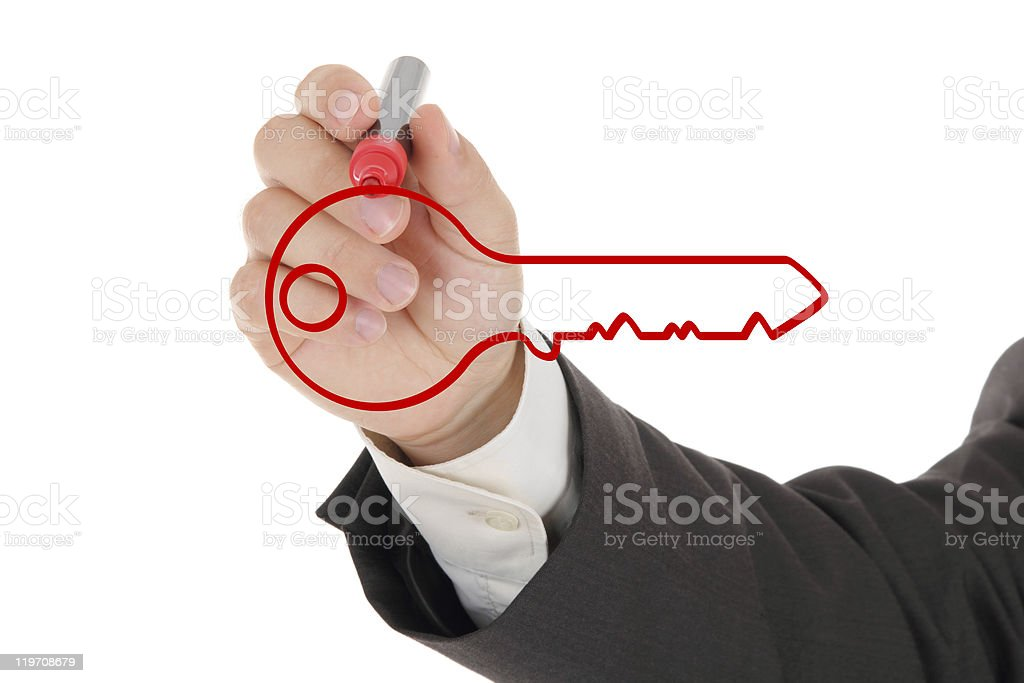Your key to succes stock photo