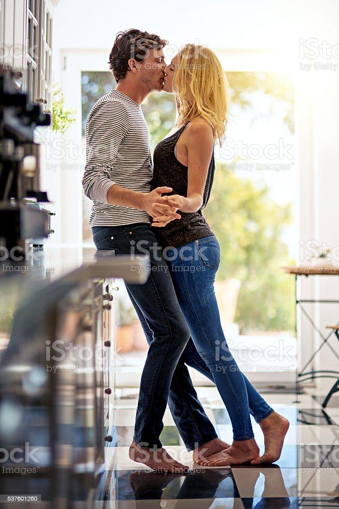 Your kisses are addictive stock photo