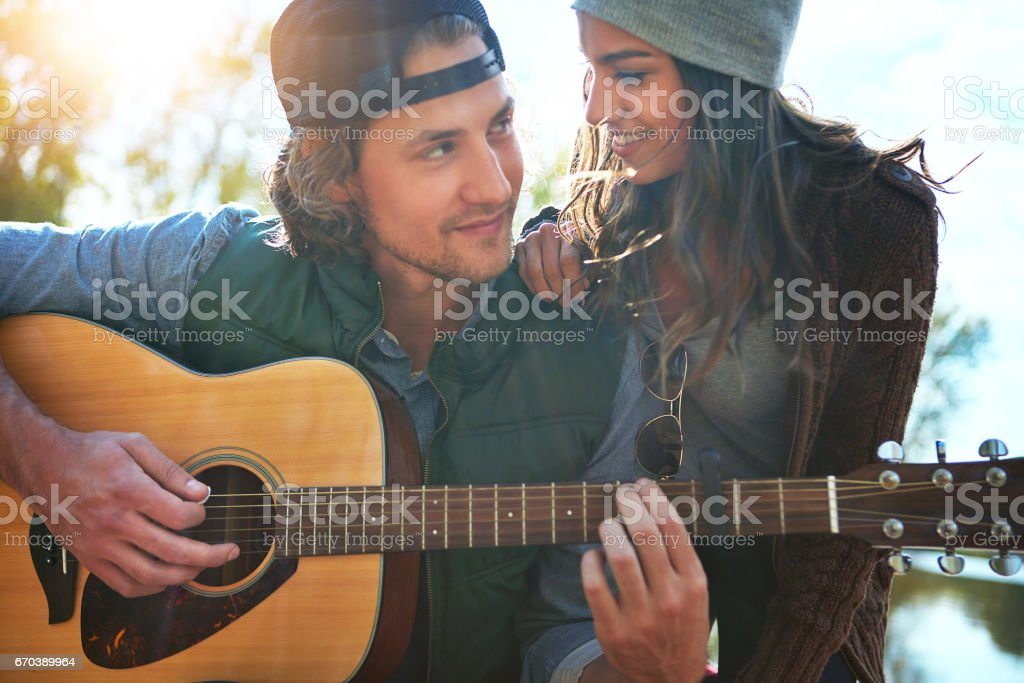 Your love is like music to my ears stock photo