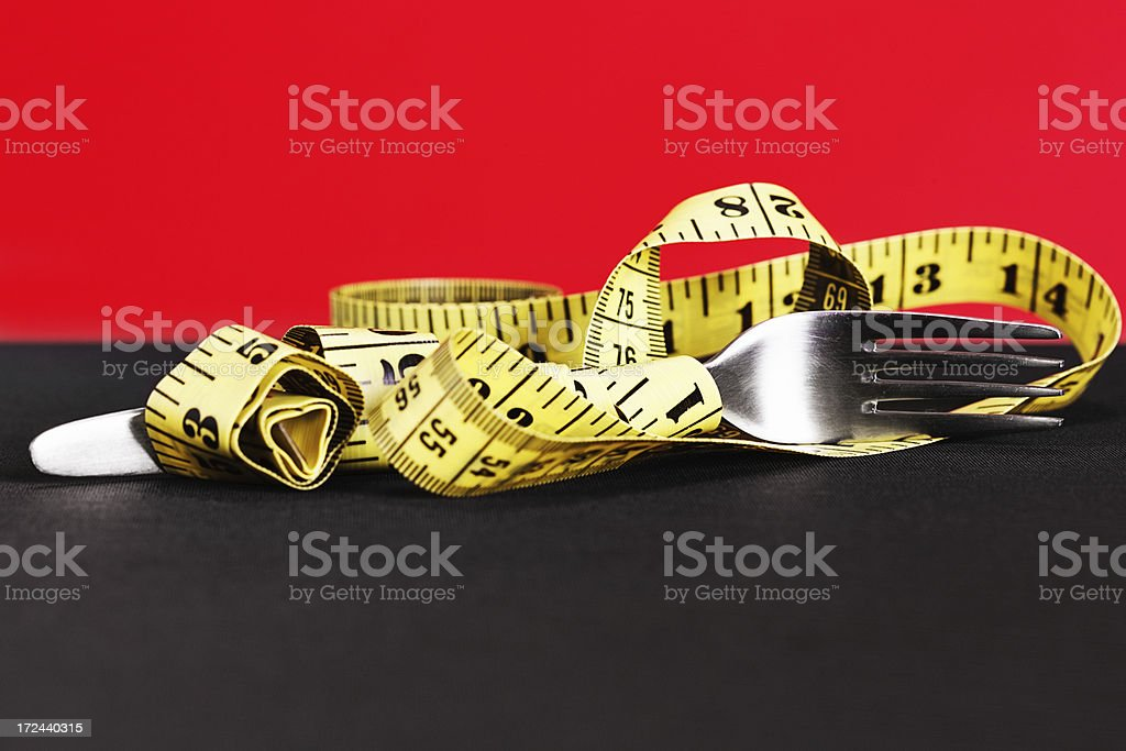 Your measurements depend on what you eat royalty-free stock photo