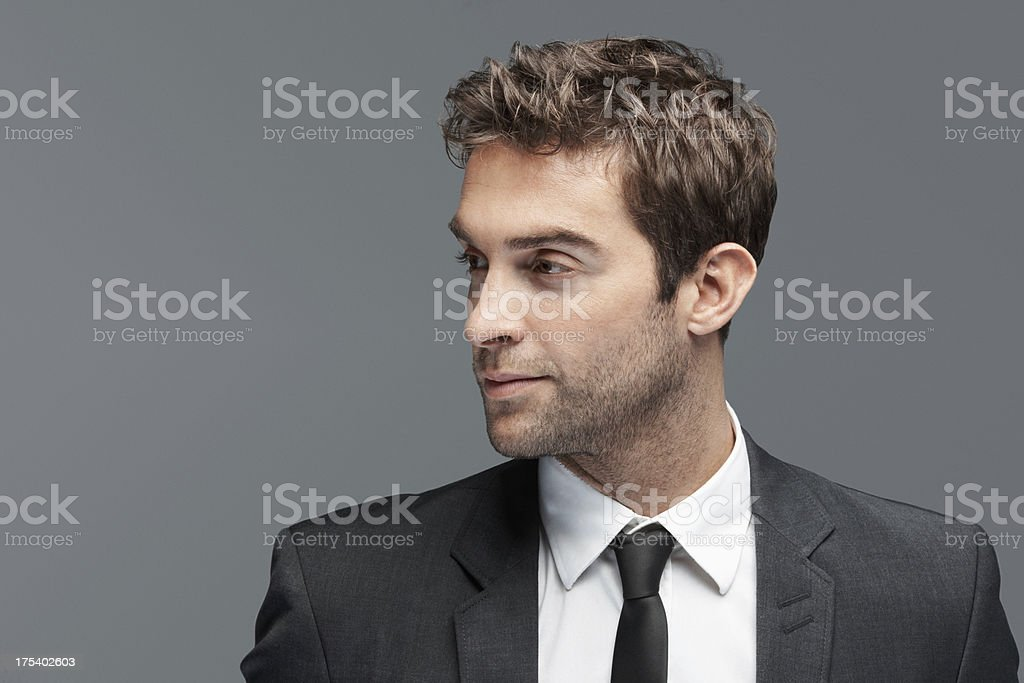 Your message has this trendsetter's full attention stock photo