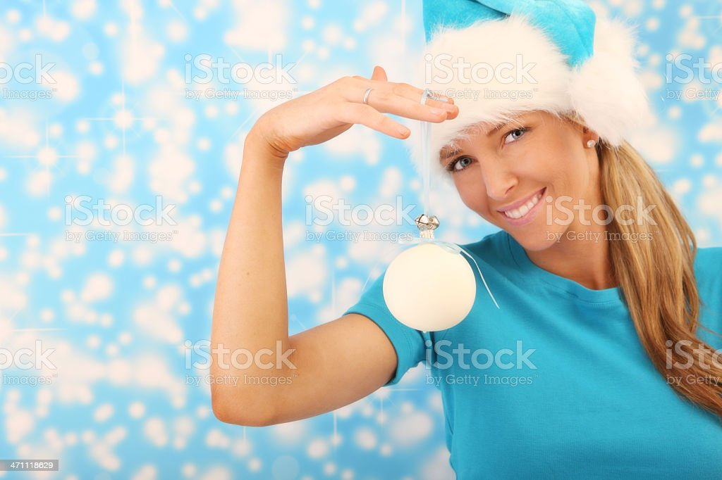 Your Message On a Bauble stock photo