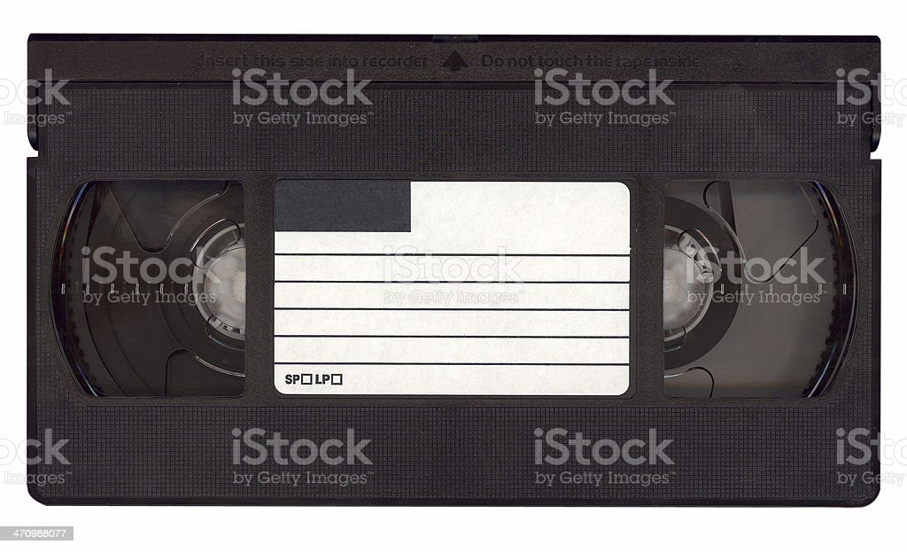 Your message on a tape - isolated videotape stock photo
