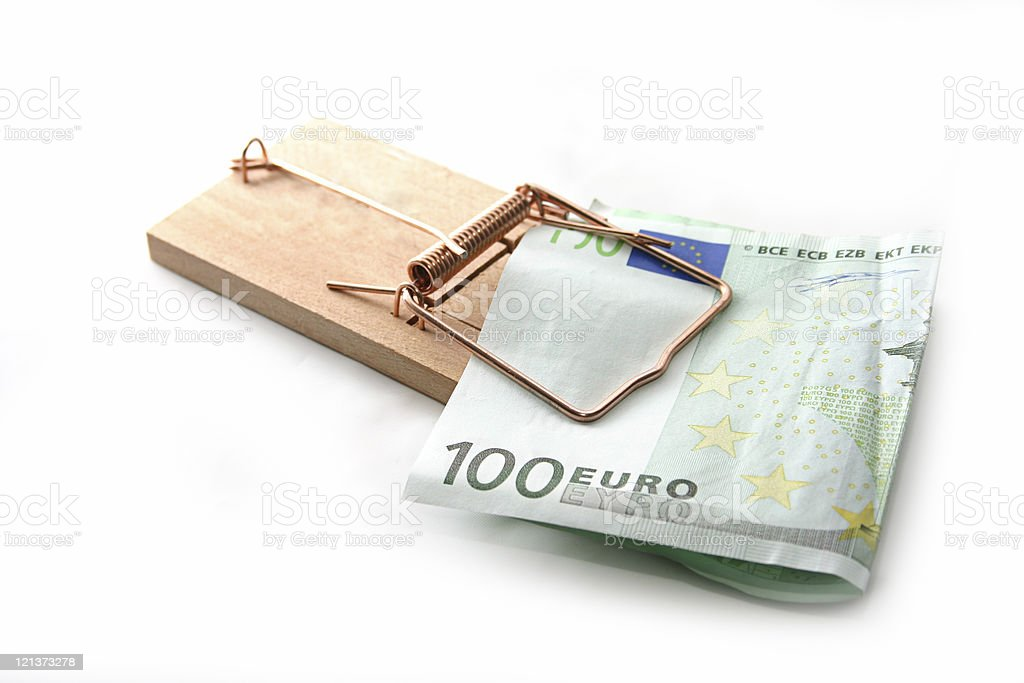 Your money in the trap! stock photo