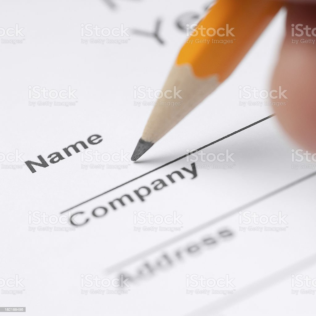 Your Name royalty-free stock photo