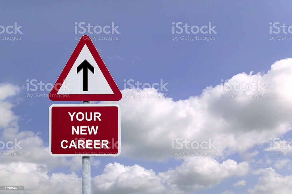 Your New Career Signpost royalty-free stock photo