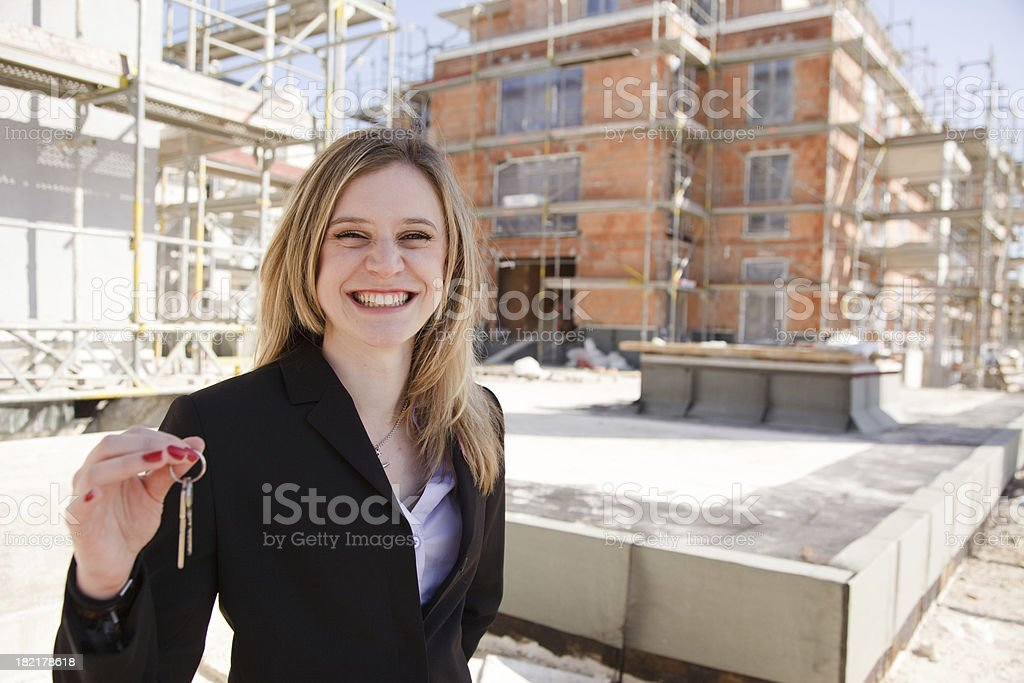 your new home - under construction royalty-free stock photo