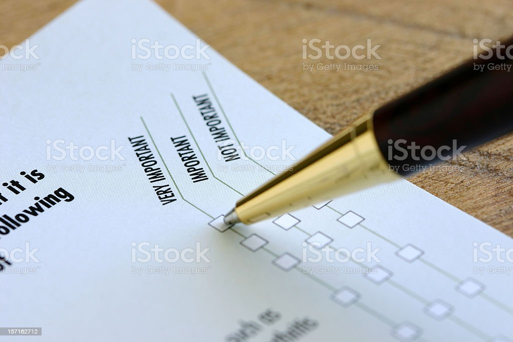 Your Opinion Counts royalty-free stock photo