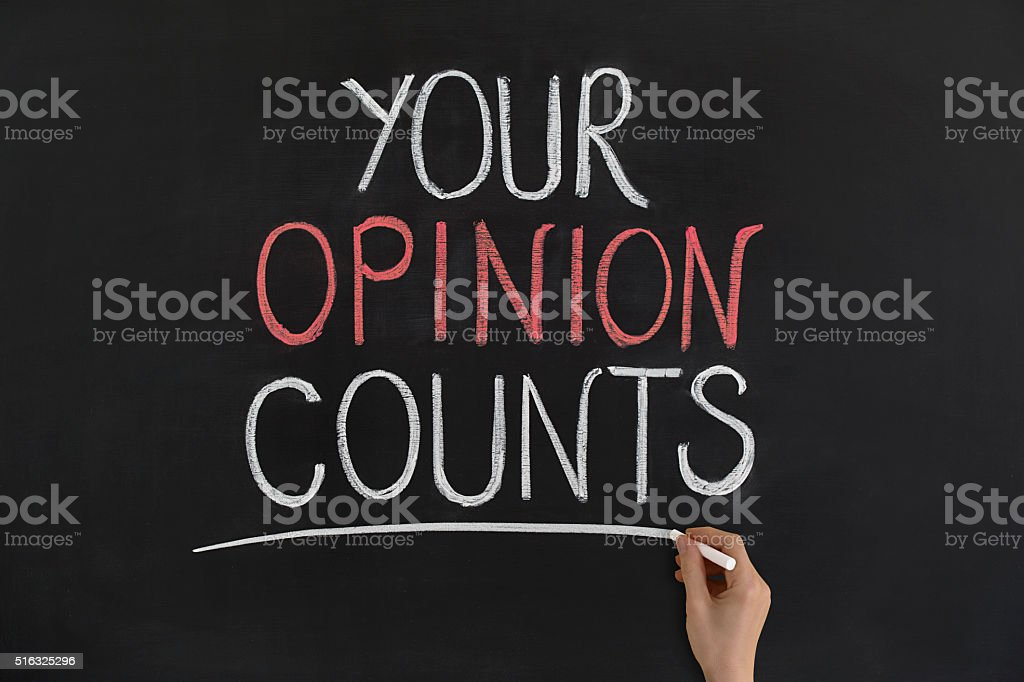 Your opinion counts stock photo