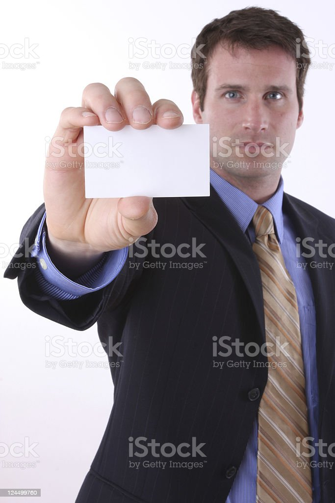 your own business card royalty-free stock photo