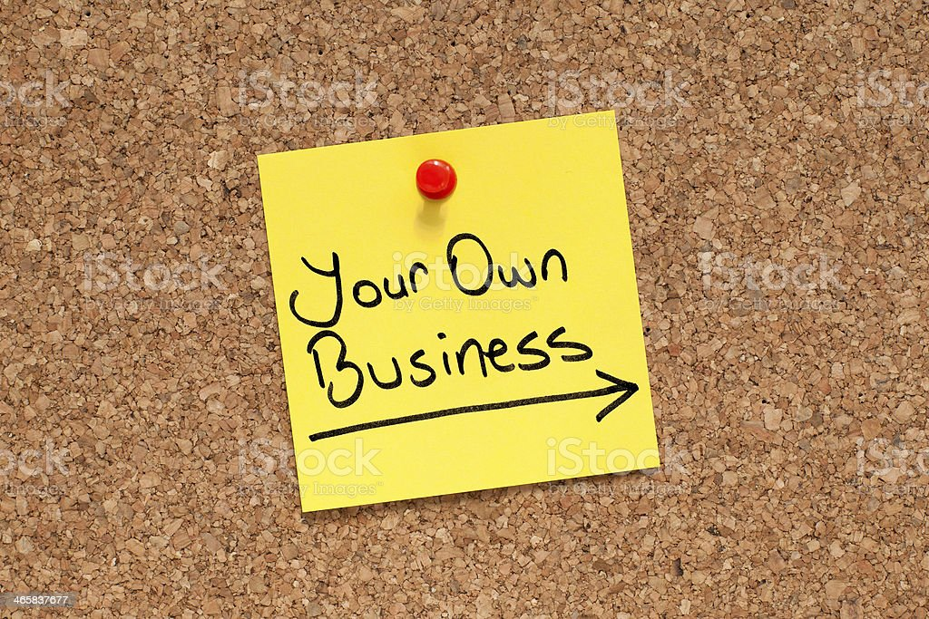 Your Own Business royalty-free stock photo