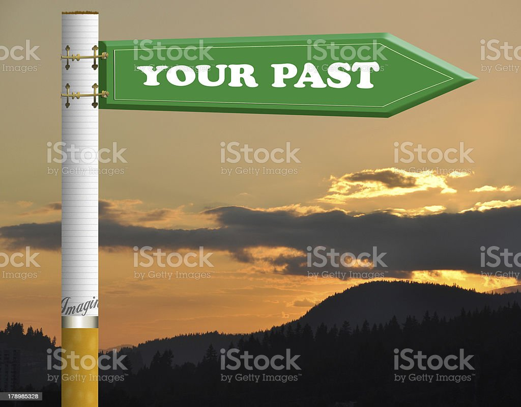 Your past road sign royalty-free stock photo