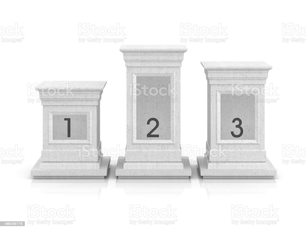 Your personal podium (front view) royalty-free stock photo