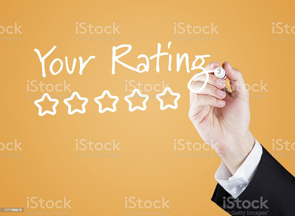 Your Rating royalty-free stock photo