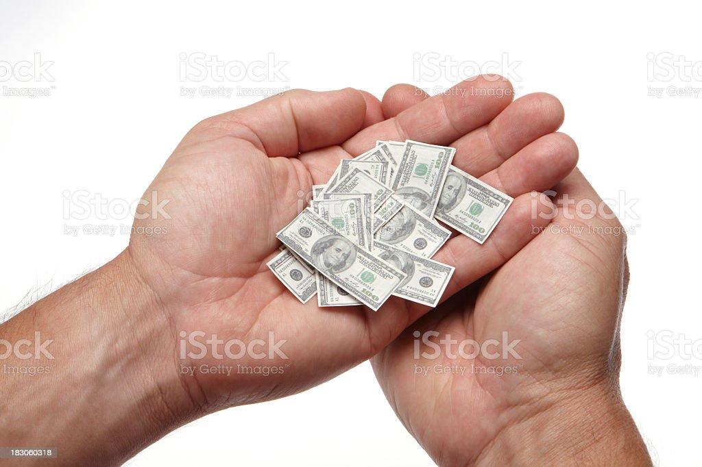 Your savings shrinking stock photo
