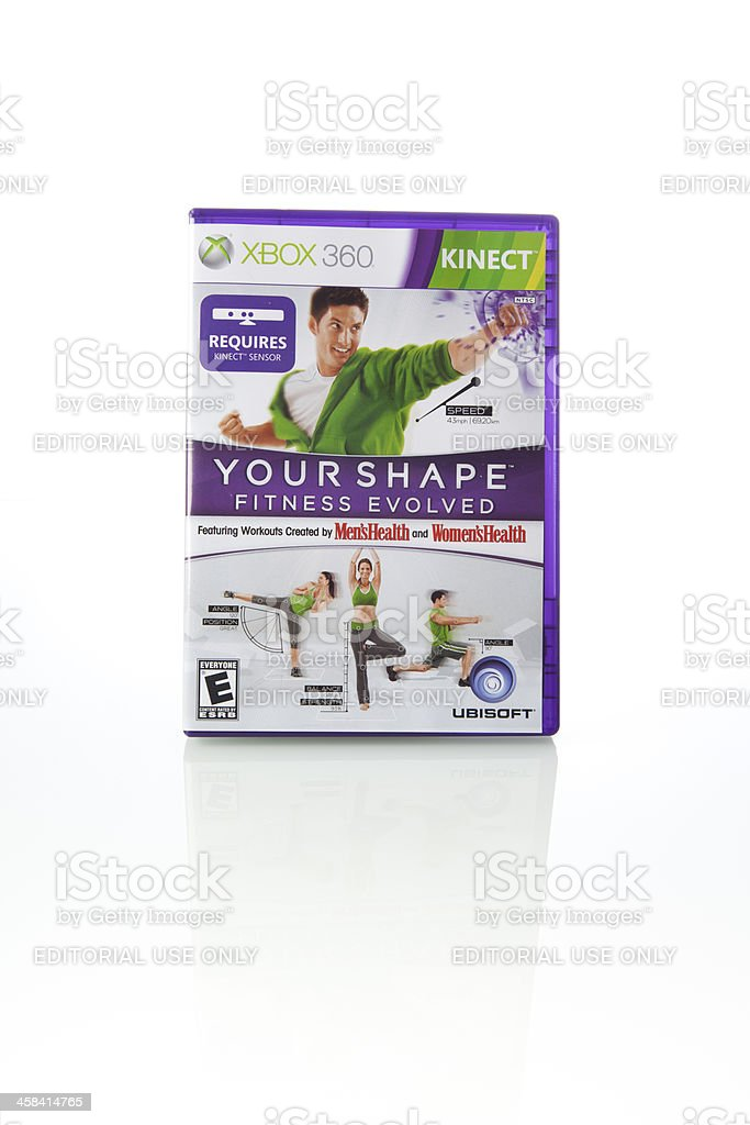 Your Shape Game for Xbox Kinect royalty-free stock photo