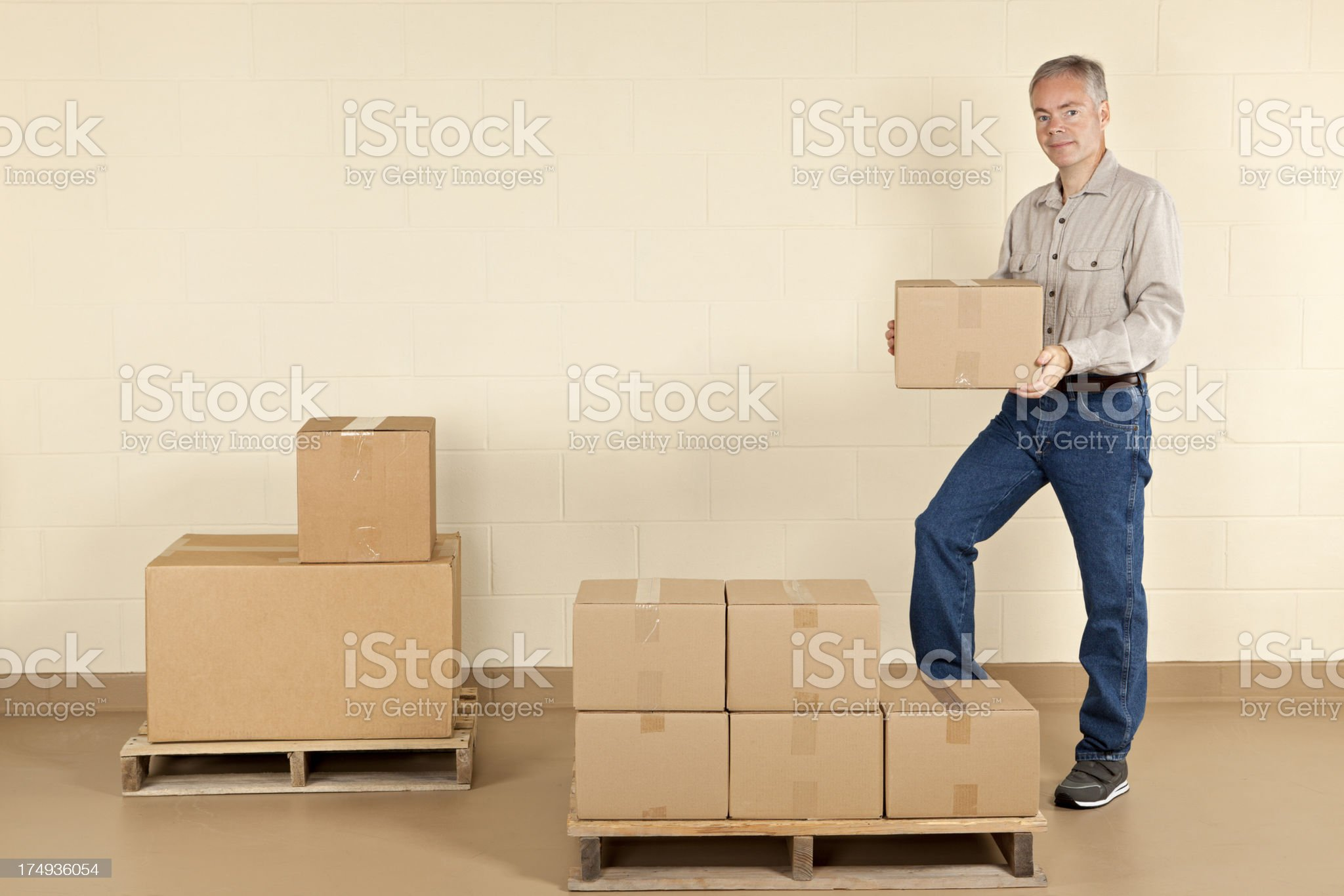 Your Shipment is Ready royalty-free stock photo