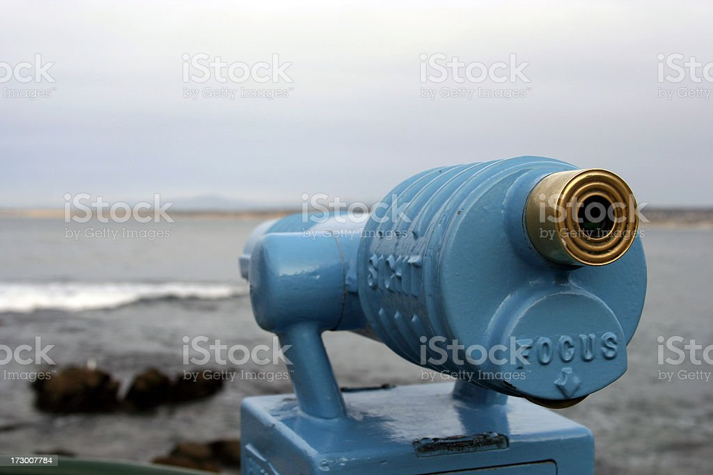 FOCUS your sight on this site: telescope facing left royalty-free stock photo
