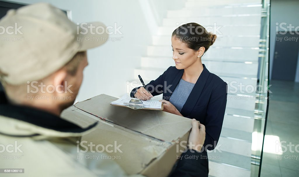 Your signature seals the deal stock photo