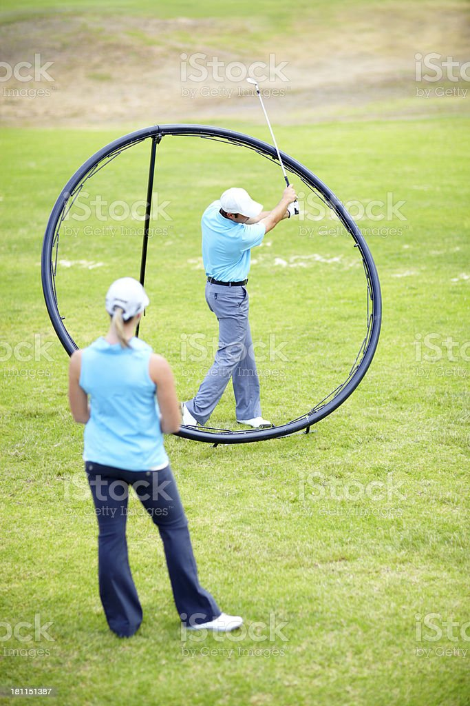 Your swing should stop when you get to here... royalty-free stock photo
