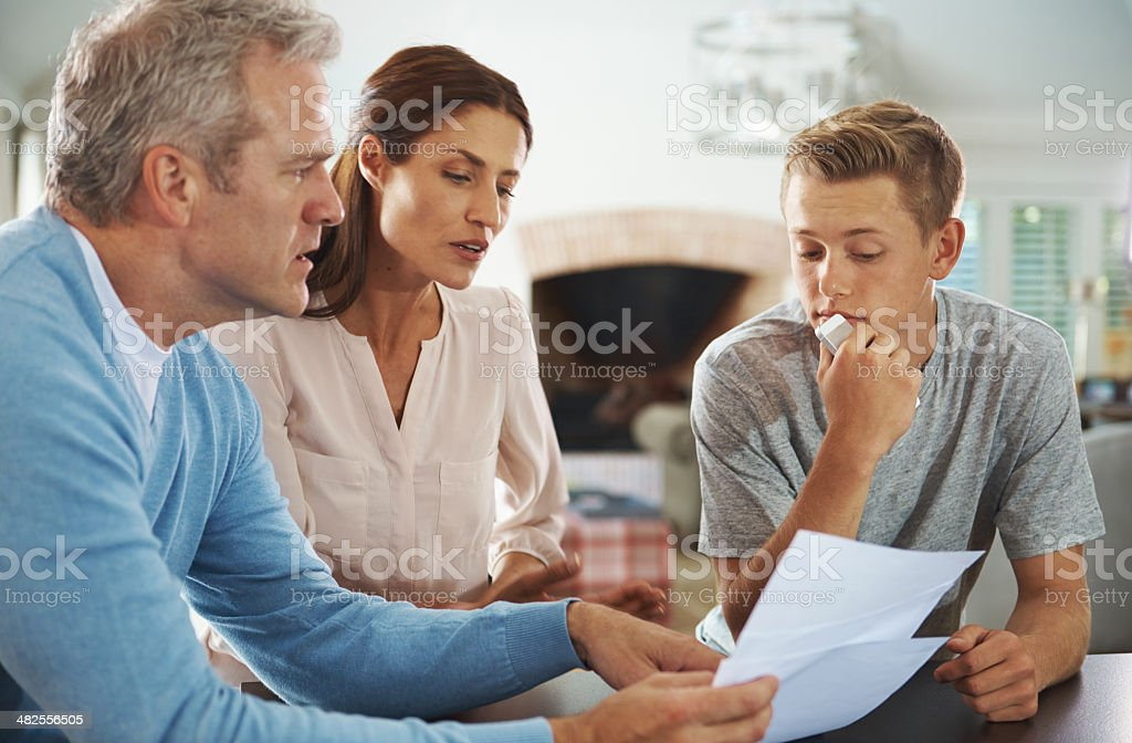 Your teacher made a note saying you've been cutting class stock photo