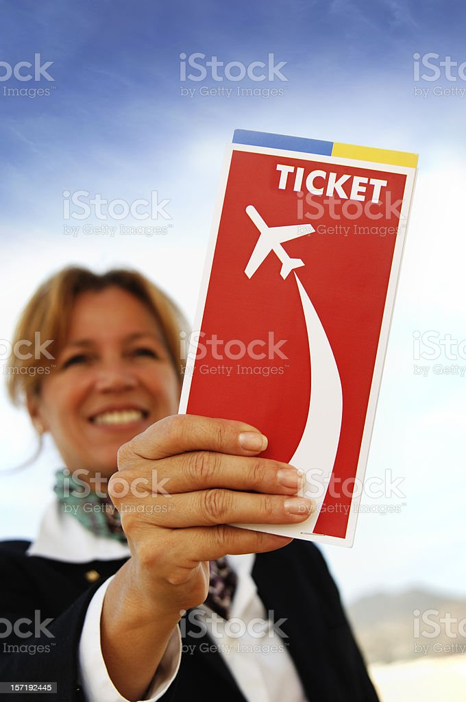 Your ticket royalty-free stock photo