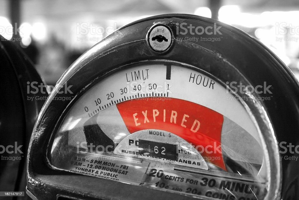 Your Time's Expired v4 royalty-free stock photo