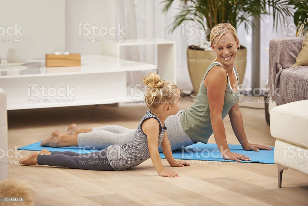 You're doing it like mommy now stock photo