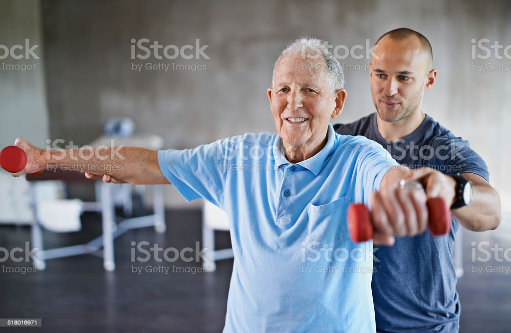 You're getting stronger every day stock photo