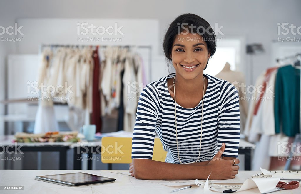 You're going to love my newest clothing line! stock photo