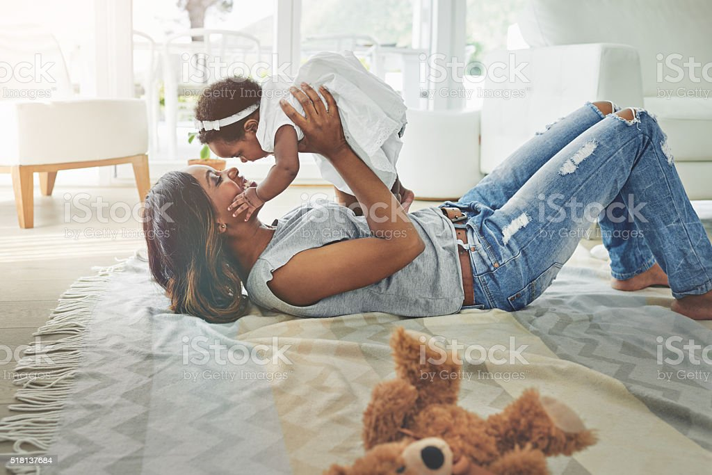 You're growing up by the day! stock photo