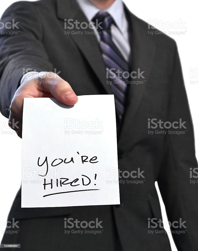You're Hired! royalty-free stock photo