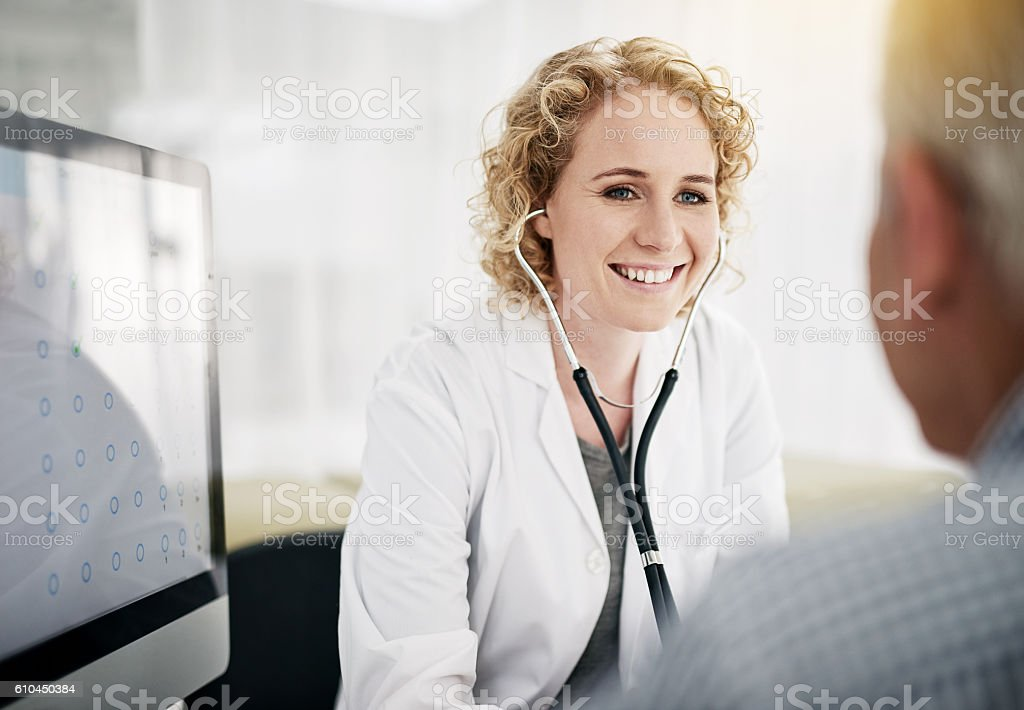 You're in excellent health! stock photo