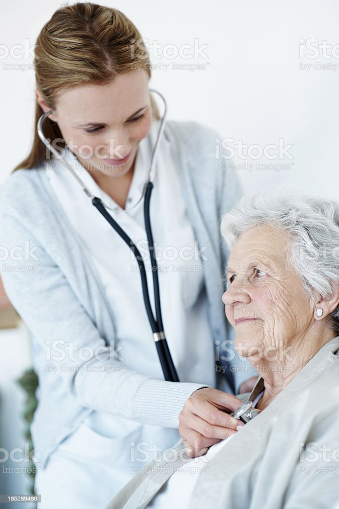 You're in perfect health stock photo