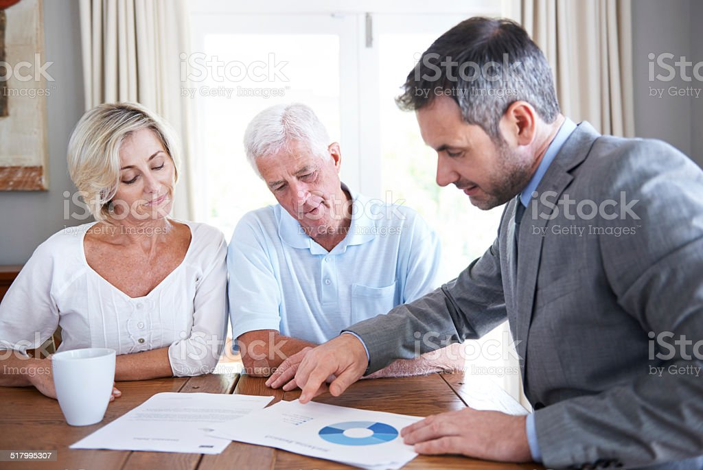 You're in sound financial condition stock photo
