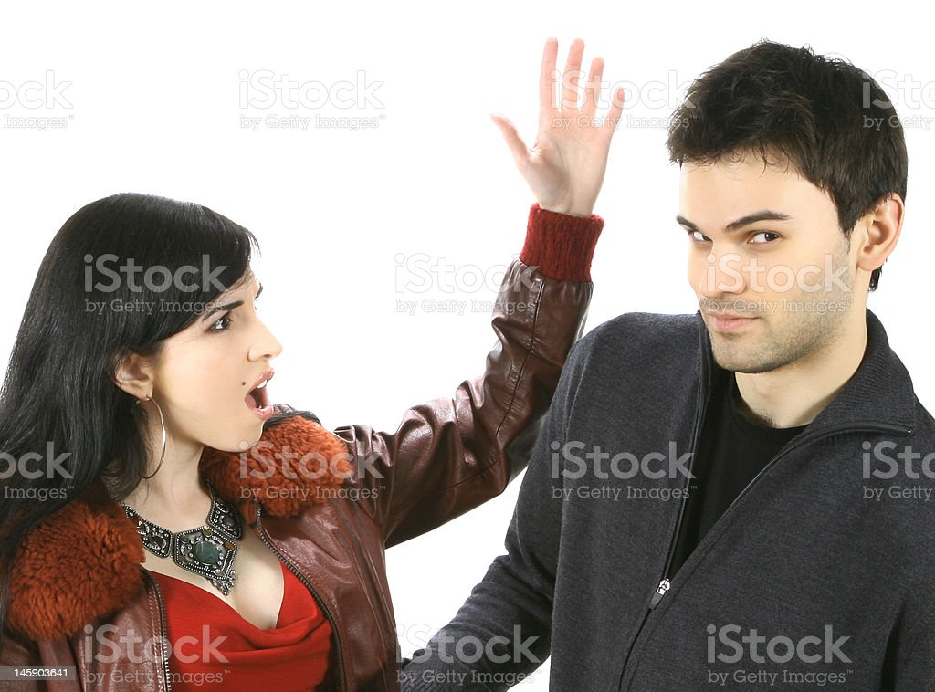 You're in Trouble Now, Mister! royalty-free stock photo