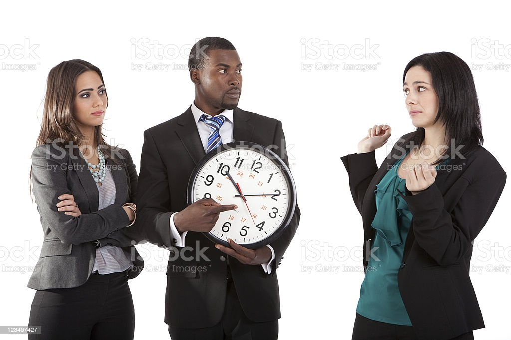 You`re late ! stock photo