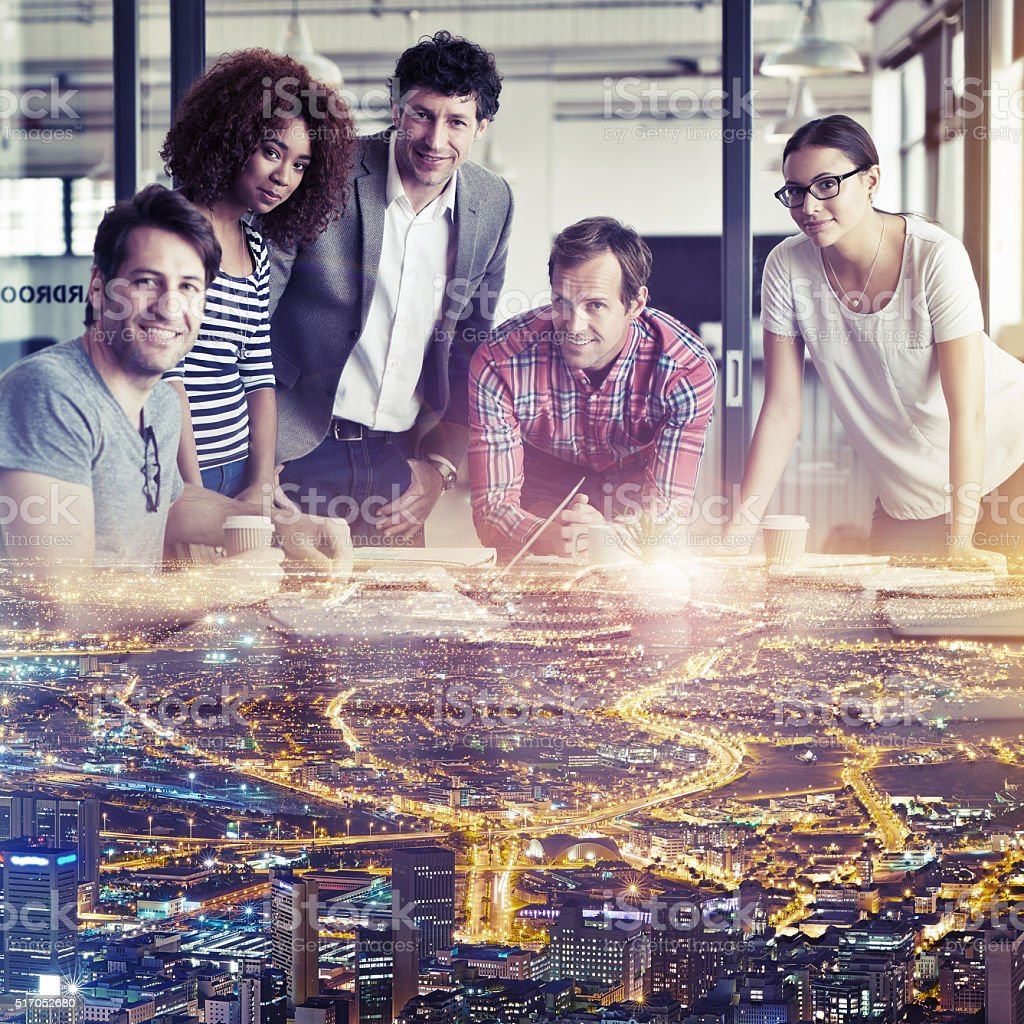 You're looking at the best creative minds in the city stock photo