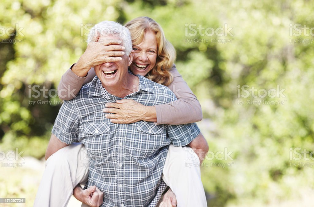 You're never too old to have fun stock photo