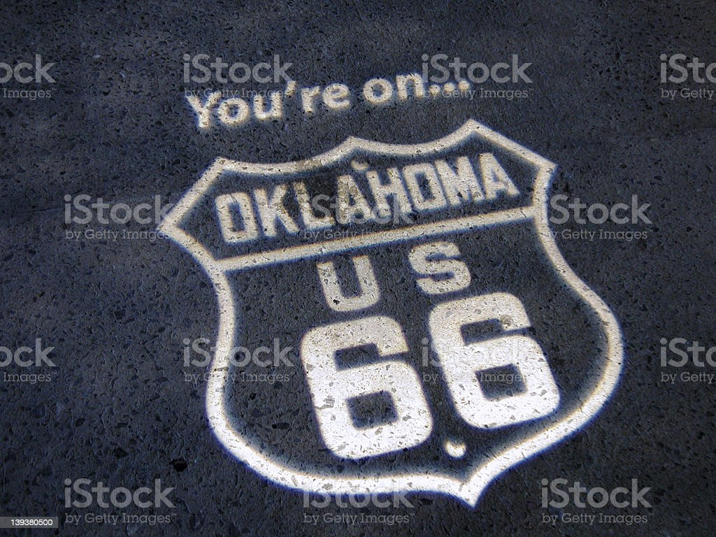 Your'e on Route 66 royalty-free stock photo