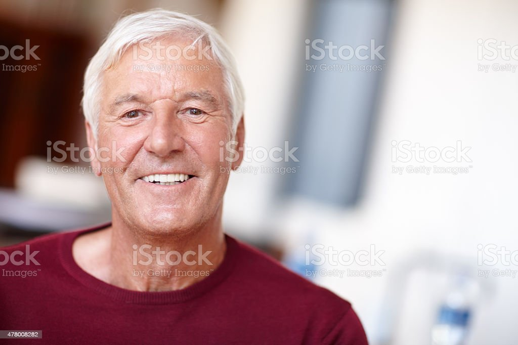 You're only as old as you feel stock photo