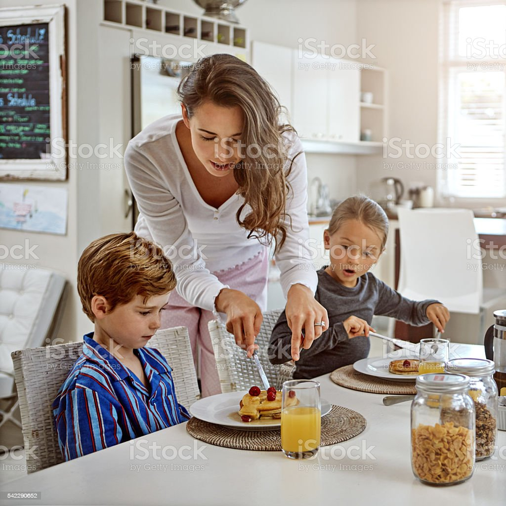 You're spoiling the fun mom... stock photo