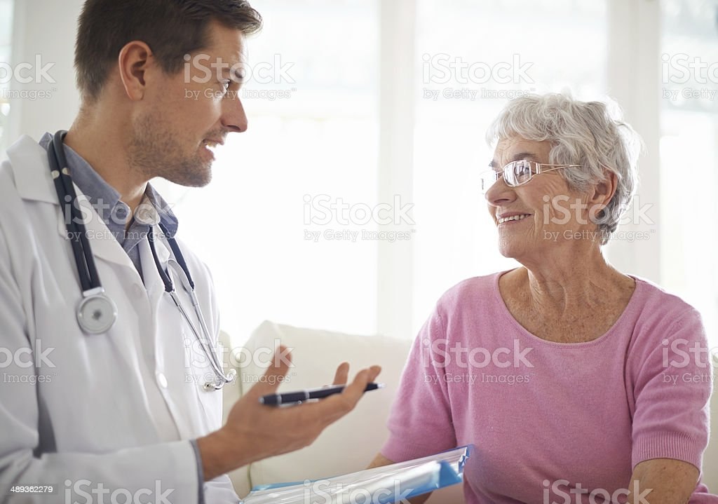 You're still in good health stock photo