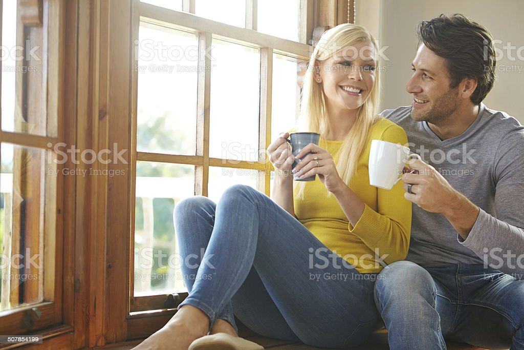 You're the cream in my coffee stock photo