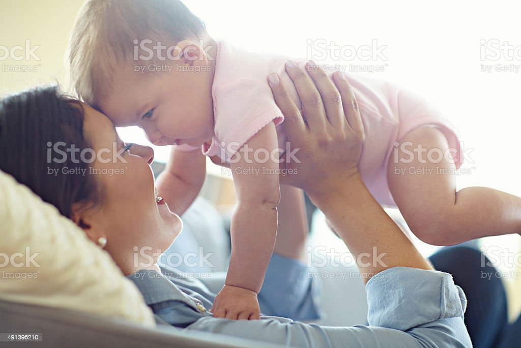You're the sweetest little baby in the world stock photo