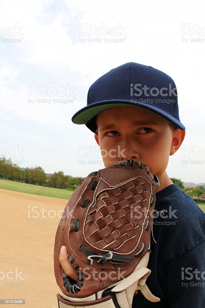 Youth baseball player stock photo