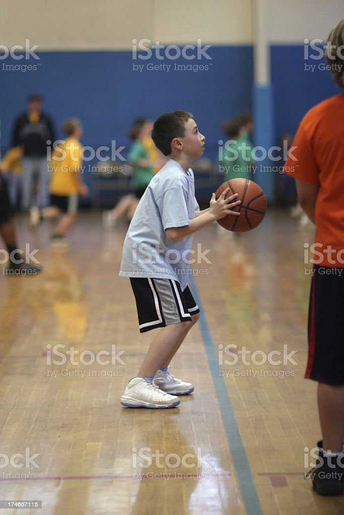 Youth basketball royalty-free stock photo