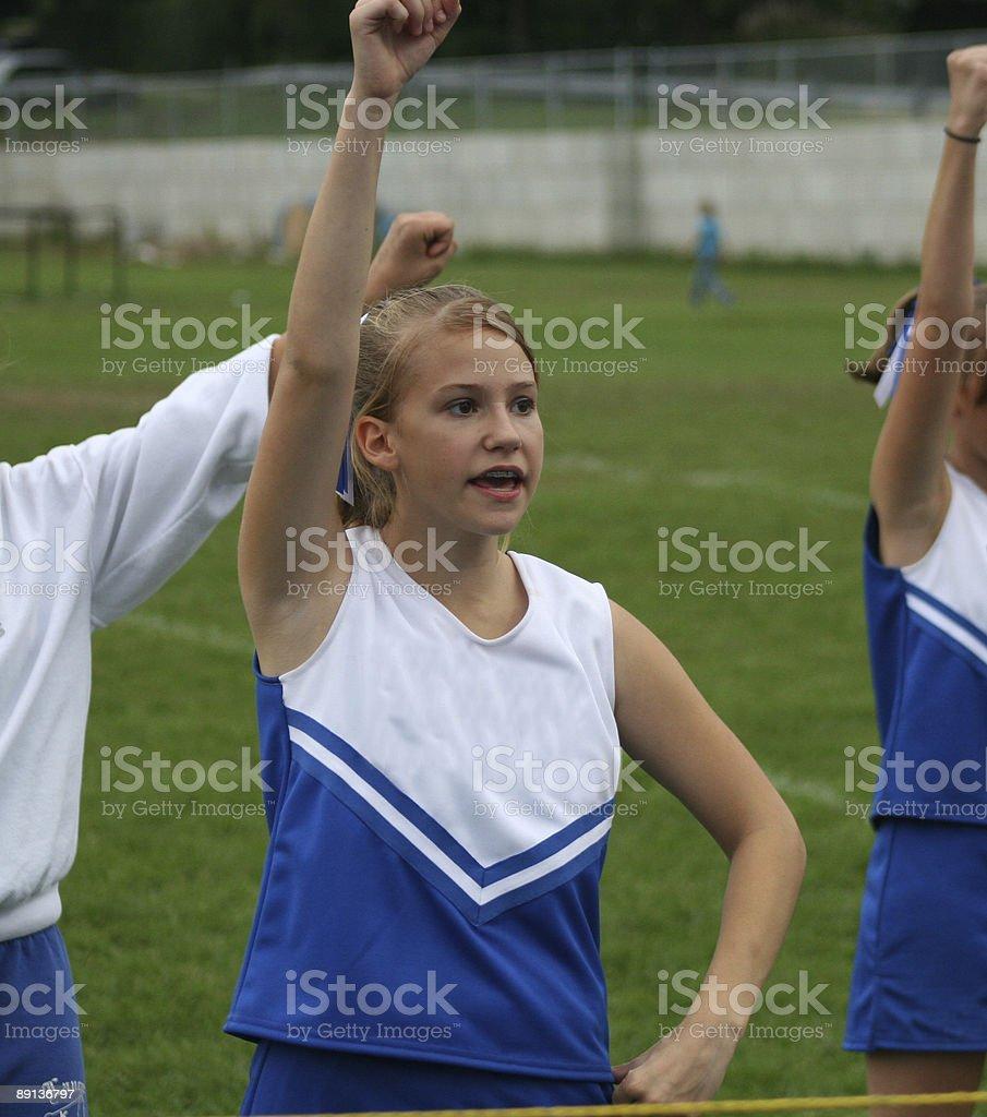 Youth Cheerleader Cheering royalty-free stock photo